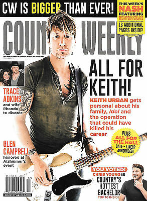 Country Weekly magazine w/ Keith Urban - April28, 2014 cover