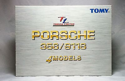 MIB TOMY TOMICA LIMITED PORSCHE 356/911S 4Models from JAPAN