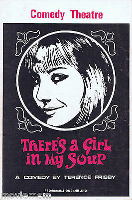 THERE'S A GIRL IN MY SOUP Vintage English Comedy Theatre Programme Peter Byrne