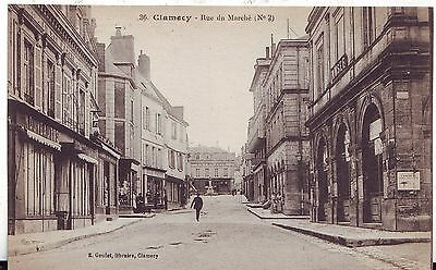 France Clamecy - Rue du Marche old postcard