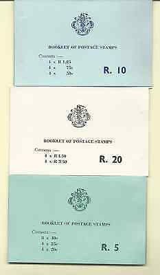 Seychelles 1977 Stamp Booklets Set Of 3 Rupees 5, 10 & 20 Mnh Free Usa Shipping