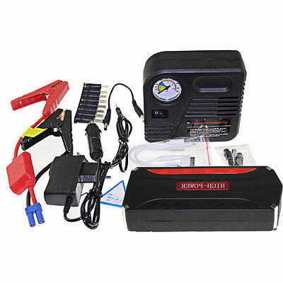 AU 68800mAh Power Bank 4USB Auto Car Jump Starter Portable Backup Pack Charger