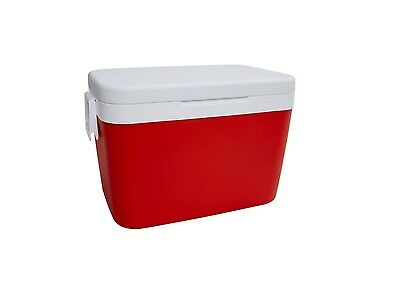 45L Cooler Red & White New Insulated Thermal Picnic Storage Travel Ice Cool Box