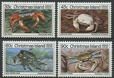 Christmas Island 1985 Crabs (3rd series)  Mint Never Hinged Condition