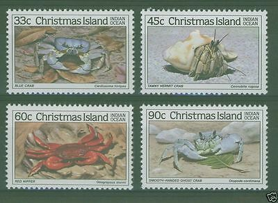 Christmas Island 1985 Crabs (2nd series)  Mint Never Hinged