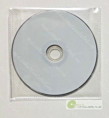 4000 CD DVD Thin CPP Clear Plastic Sleeves with Flap Bag Envelope 60 micron