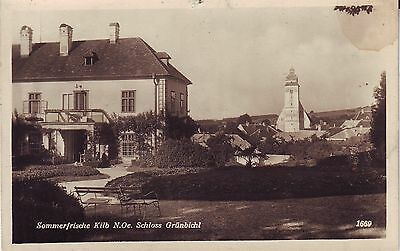 Austria Kilb N.Oe. - Schloss Grunbichl circa 1930 unused real photo postcard