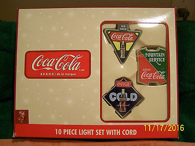Coca-Cola String of Christmas Lights -New in Box- Never Used
