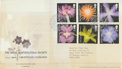 Great Britain stamp FDC 2004 the Royal Horticultural Society stamp UK134229