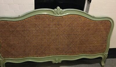 carved rattan/whicker headboard/french style