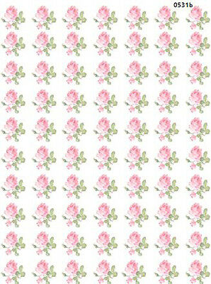 ToNs of SmaLL PinK RoSeS ShaBby WaTerSLiDe DeCALs *CoTTaGe ChaRm*