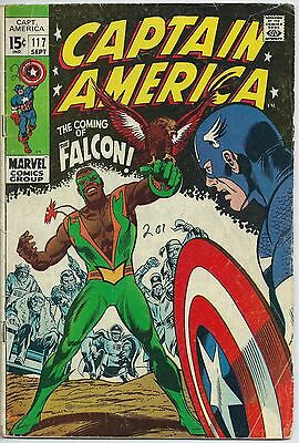 **captain America #117**(Sep 1969, Marvel)**1St Appearance Of The Falcon**vg-**
