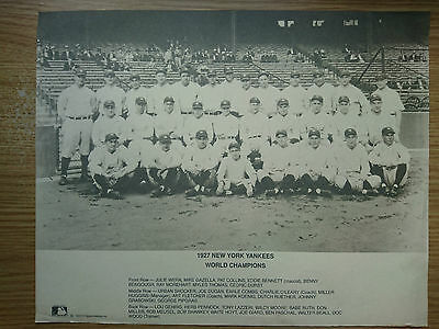 Extremely Rare Vintage 1927 New York Yankees World Champions Poster 1990 reissue