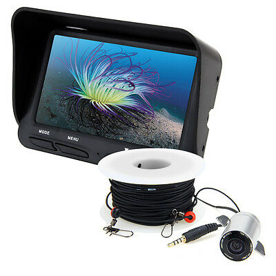 LCD Monitor Fish Finder Ocean Ice Fishing Underwater 30M 100FT Video Camera