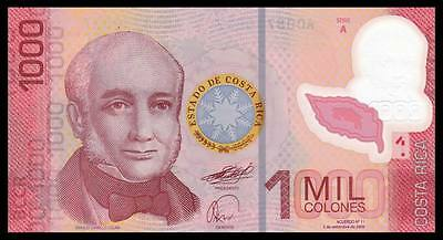 Costa Rica 1000 Colones 2009 year Polymer BrandNew Banknotes