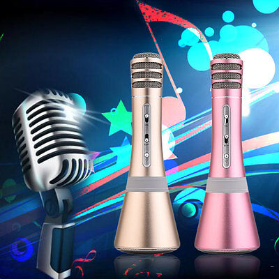 Bluetooth Connection Karaoke Sing K Song Microphone Stereo Output Mic K8 AU