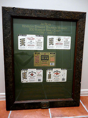 Jim Beam  - 200 Years Family Craft Framed Labels-263/360 Limited Edition