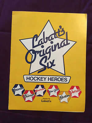 Labatt's Original Six Hockey Heroes Program