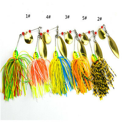Fishing Hard Spinner Lure Spinnerbait Pike Bass 16.3g/0.57oz BD