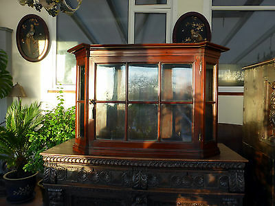 Victorian Mahogany  Astral Glazed Dutch Style Hanging Cabinet Free Shipping