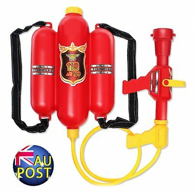 Backpack Water Gun Super Soaker Pistol Firefighter Beach Outdoor Garden Toys AU