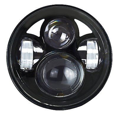 5.75inch Round Led Projector Headlight Daymaker Angel Eye H/L Harley Davidson