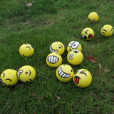 2X Emoji Emotion Face Anti Stress Reliever Ball ADHD Autism Mood ToyS Squeeze
