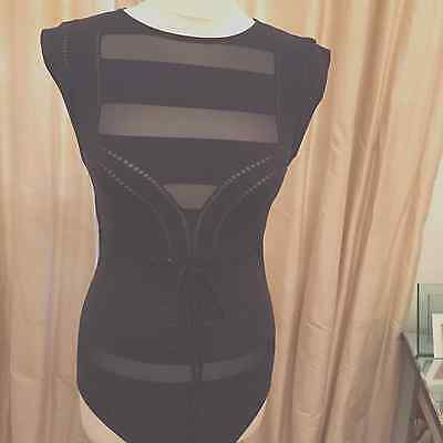 Wolford Stunning Club Life String Body in Black - Size Large NWT! wow!!