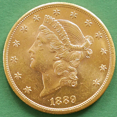 $20 Dollars USA 1889-S Gold Liberty Head Double Eagle KM #74.3