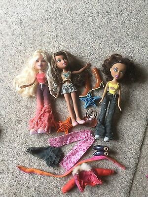 3 x Bratz Dolls with Accessories in Great Condition