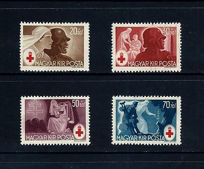 HUNGARY _ 1944 'RED CROSS' SET of 4 _ mh ____(455)