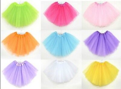 3 LAYER TUTU Kids Girl Ballet Dance SKIRT Costume clothing for Party Multi-color