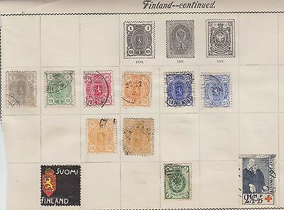 Ls118  Extremely Early Mint & Used Stamps From Finland On Old Album Page