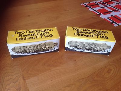 Two Boxes 4 Dartington Glass Sweetcorn dishes with original boxes