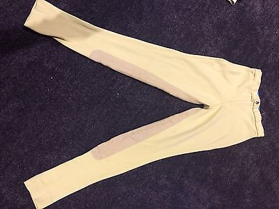Horse Riding Jodphurs Good Pre Loved Condition Sticky Bum Windsor Child Size 12