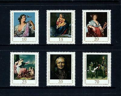 EAST GERMANY _ 1976 'PAINTINGS' SET of 6 _ mnh ____(455)
