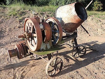 VERY RARE Vintage 1930s Champion Hit and Miss Concrete Mixer