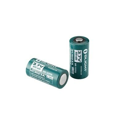 2 X Olight 14500 750mah 3.7V Protected Rechargeable Li-ion Electric Battery US