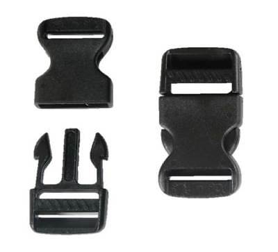 32mm Black Plastic Side Quick Release Buckle Clip – Cord Strap Backpack Bag RE