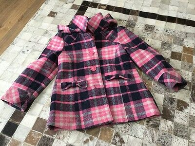 Girls checked hooded coat.