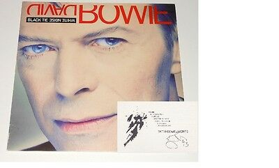 DAVID BOWIE Signed Card EPPERSON COA Last Card