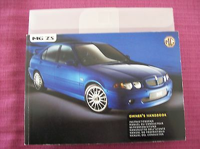 Mg Zs Owners Manual - Owners Guide - Handbook & Wallet. (Acq 978)