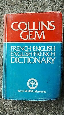 Collins Gem French English Dictionary 1982