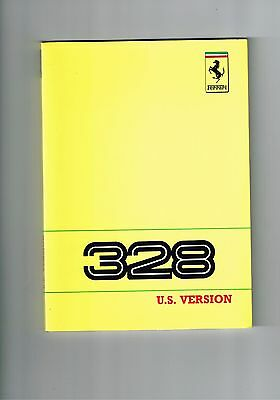 Ferrari 328 US Version - Owner's Manual #535/88