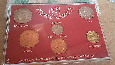 1967 COINS OF GREAT BRITAIN coin set 6 coins