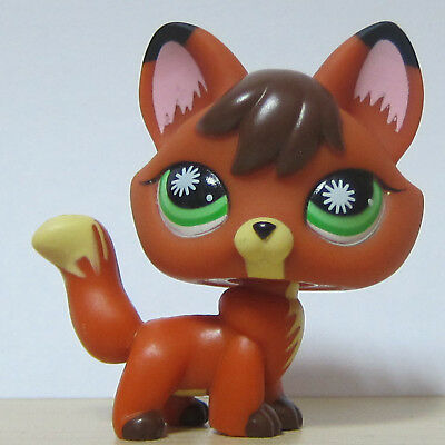 Littlest Pet Shop LPS Collection Animal Toy #807 Redish Brown Firefox Fox Dog
