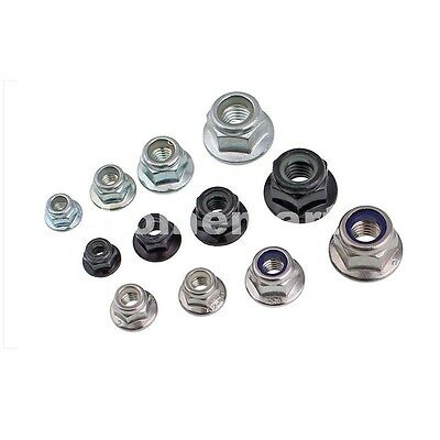 M3 M4 M5 M6 M8 M10 M12 Nylon Insert Hex Flange Lock Nuts Stainless Carbon Steel