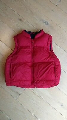 M&S kids Red Gillet - Age 2-3Years