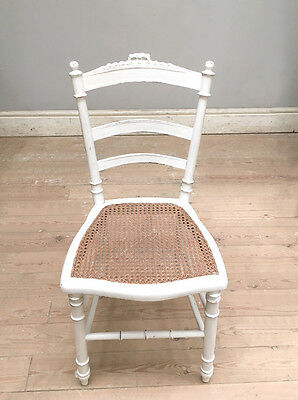STYLISH OLD FRENCH LOUIS XVI CANE CHAIR c.1900