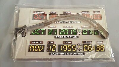 Nerd Block Exclusive Back To The Future Time Circuit Luggage Bag Tag